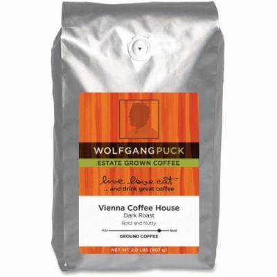 Wolfgang Puck Vienna Coffee House Ground Coffee Ground - Caffeinated - Rich Aroma - Dark - 32 oz - 1 Each