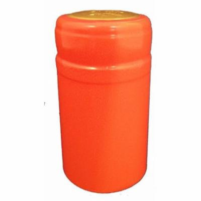 Orange PVC Shrink Capsules, 30 Per Bag