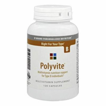 D'Adamo Personalized Nutrition - Polyvite B - 120 Capsules