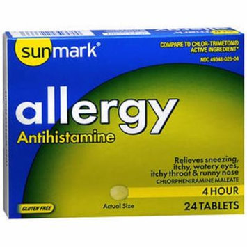 Sunmark 4 Hour Allergy Tablets , 4 mg - 24 ct