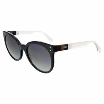 FENDI Sunglasses 0083/S 0E6I Black White Crystal 55MM