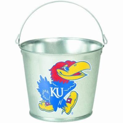 NCAA Kansas Jayhawks 5-Quart Galvanized Pail