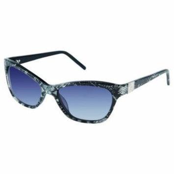 ELLEN TRACY Sunglasses NORMANDY Black Snake 53MM
