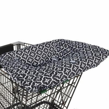 Balboa Baby Shopping Cart and High Chair Cover - Black Lattice Design - 100% Cotton