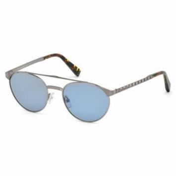 ERMENEGILDO ZEGNA Sunglasses EZ0026 15V Matte Light Ruthenium 52MM