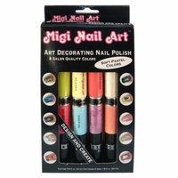 Migi Nail Art Nail Polish and Pen Duo Pastel Color Set