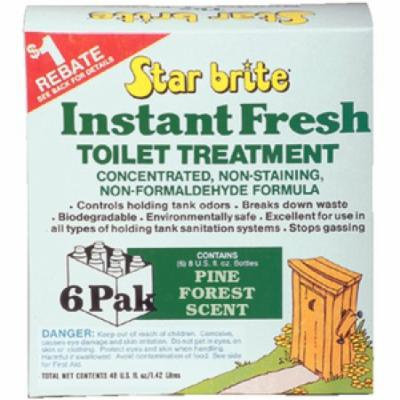 Star Brite 6 Pack Pine Scent Instant Fresh Toilet Treatment