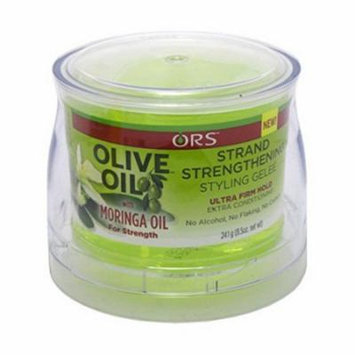 ORS Olive Oil Strand Strengthening Styling Gel, With Moringa Oil, 8.5 oz