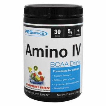 PEScience - Amino IV BCAA Drink Strawberry Breeze - 13.23 oz.