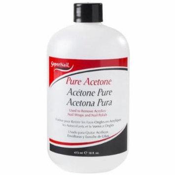 Super Nail Nail Polish Remover - Pure Acetone 16 oz. (Pack of 2)