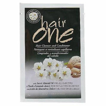 Hair One Hair Cleanser and Conditioner with Sweet Almond Oil 18ml Packette (Pack of 6)