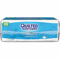 Quilted Northern Ultra Bath Tissue - 2 Ply - 190 Sheets/roll - White - Strong, Absorbent, Flexible, Soft, Biodegradable, Septic-free - For Bathroom - 30 / Carton (gpc-968685)