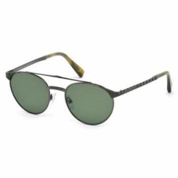 ERMENEGILDO ZEGNA Sunglasses EZ0026 08N Shiny Gunmetal 52MM