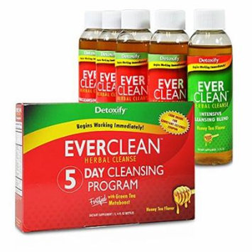 Detoxify Ever Clean Herbal Cleanse Honey Tea, 5 - 4 fl oz bottles