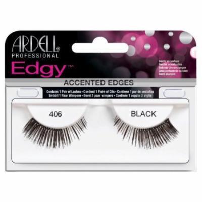 Ardell Edgy Lash False Eyelashes - #406 Black (Pack of 6)