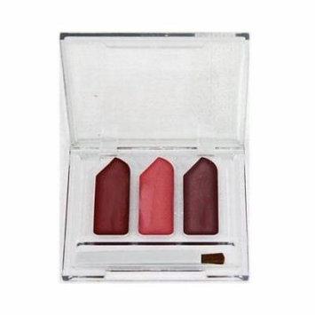 Jordache Cosmetics 3 Color Lip Gloss Trio Cream W/Applicator Brush