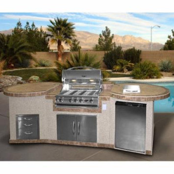 CalFlame 4-Burner Built-In Gas Grill