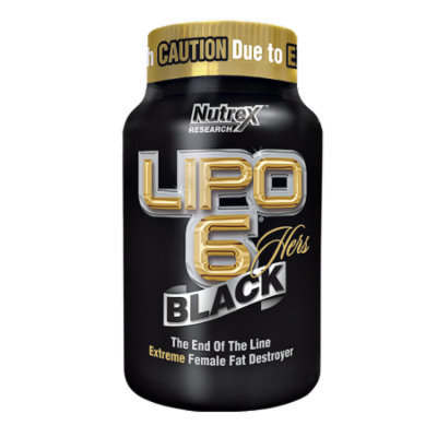 Nutrex Research Labs, Lipo 6, Black, Hers, 120 Black-Caps