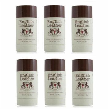 English Leather Deodorant Stick - 3 Oz (85g) (6 Pack)