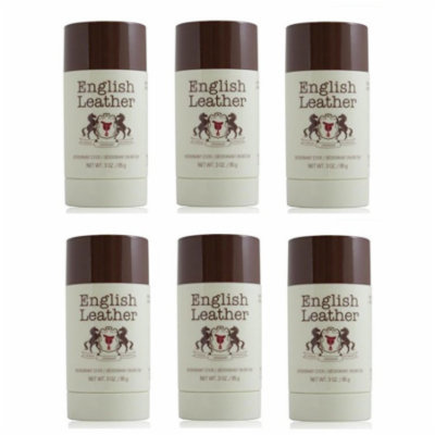 English Leather Deodorant Stick - 3 Oz (85g) (6 Pack)