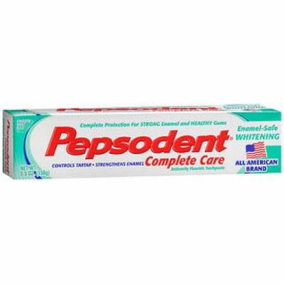 Pepsodent Complete Care Enamel-Safe Whitening Anticavity Fluoride Toothpaste Smooth Mint Flavor - 5.5 oz
