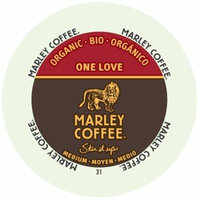Marley Coffee One Love, Medium - Organic, RealCup Portion Pack For Keurig Brewers, 72 Count