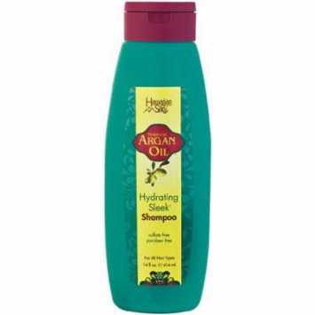 Hawaiian Silky Argan Oil Hydrating Sleek Shampoo, 14 Ounce