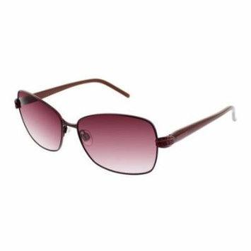 ELLEN TRACY Sunglasses ALMERIA Burgundy 58MM
