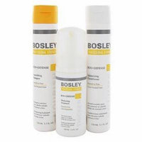 Bosley Defense Starter Pack with Shampoo Conditioner and Thickening Treatment, 3 Count