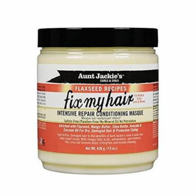 Aunt Jackie's Fix My Hair Intensive Repair Conditioning Masque 15 oz. (Pack of 6)