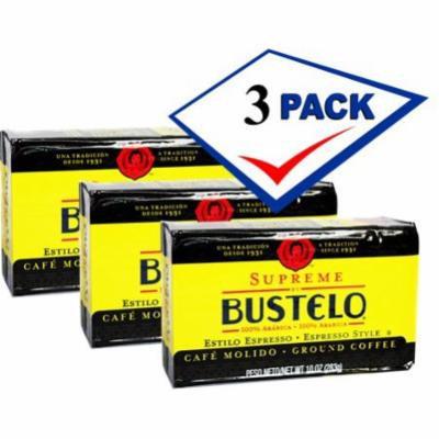 Bustelo Supreme Cuban Coffee - Ground vacuum pack. 10 Oz pack of 3