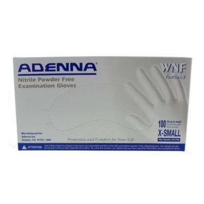 Adenna WNF White Nitrile PF Exam Gloves WNF812 Extra Small