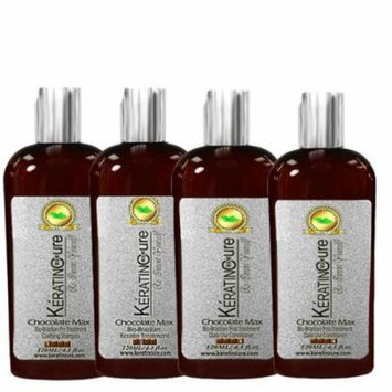Keratin Cure 0% Formaldehyde Bio-Brazilian Hair Treatment Chocolate 4 oz 120 ML