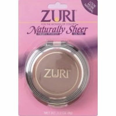 Zuri Naturally Sheer Pressed Powder Natural Brown
