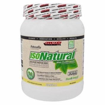 AllMax Nutrition - IsoNatural Whey Protein Isolate Vanilla - 15 oz.