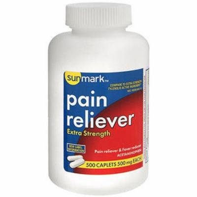 Sunmark Pain Reliever 500 mg Caplets - 500 ct