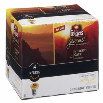 Folgers Morning Cafe Kcup Coffee, 12 CT (Pack of 6)