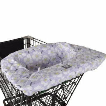 Balboa Baby Shopping Cart and High Chair Cover - Lavender Poppy Floral Design - 100% Cotton