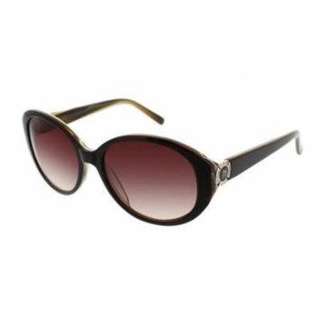 JESSICA MCCLINTOCK Sunglasses 576 Brown Laminate 57MM