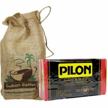 Pilon Gourmet Ground Coffee. 10 oz vac pack.Presented in a beautiful jute bag