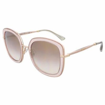 Jimmy Choo GLENN/S 0QBQ Nude Glitter Square sunglasses