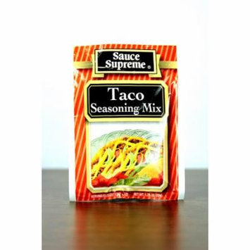 Pack of 24 Sauce Supreme Taco Seasoning Mix 1.25 oz. #30003