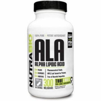 NutraBio Alpha Lipoic Acid (ALA) 300 mg - 150 Vegetable Capsules Potent Antioxidant & Metabolic Optimizer