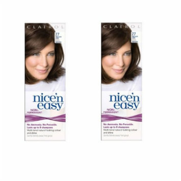 Clairol Nice N' Easy Hair Color #77, Medium Ash Brown (Pack of 2) Uk Loving Care