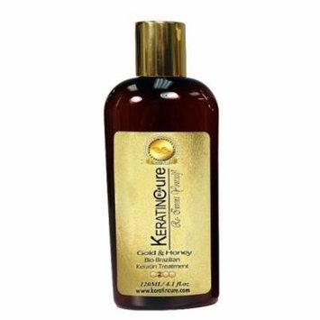 Keratin Cure 0% Formaldehyde Bio-Brazilian Hair Treatment Gold & Honey 4 oz 120 ML