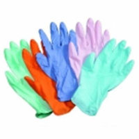 Hygloss Colored Latex Craft Gloves - Adult Size, Pack 100