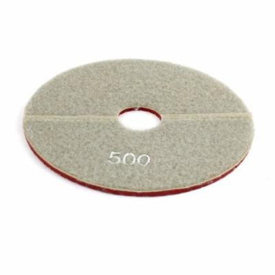 Gray Red 500 Grit Round Stone Tile Polisher Griding Diamond Polishing Pad