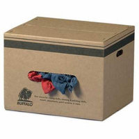 BUFFALO 10104 Cloth Rag, Rcycld Cottn, 25 lb. Box