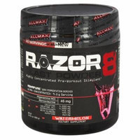 AllMax Nutrition - Razor8 Blast Powder Highly Concentrated Pre-Workout Stimulant Watermelon - 10.01 oz.