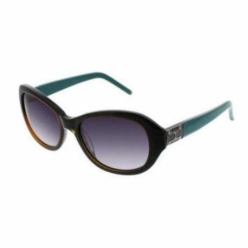 ELLEN TRACY Sunglasses TOSCANA Green Horn 53MM